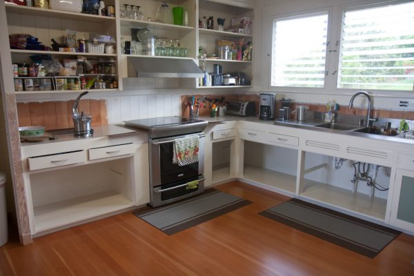 Here's the final result. Of course, we still don't have any cabinet doors. Or a counter top...